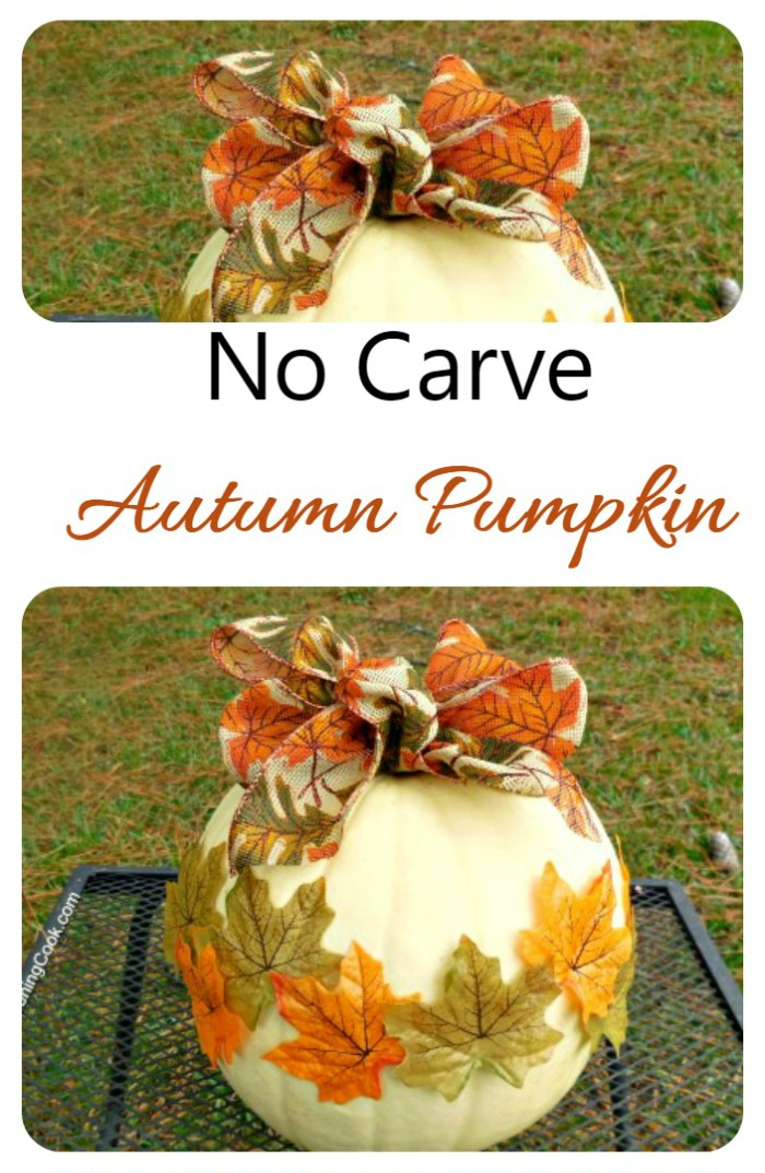 This no carve autumn pumpkin gives the look of fall without all the mess.,