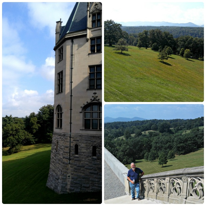 The outside views at Biltmore were magnificent and were visible from many vantage points.