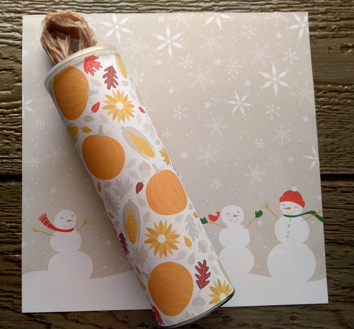 This Grocery Bag Dispenser can be recovered in other paper any time of the year for a new seasonal look!