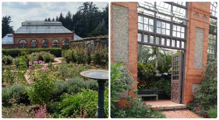 The conservatory at Biltmore estate gardens houses a huge variety of unusual plants