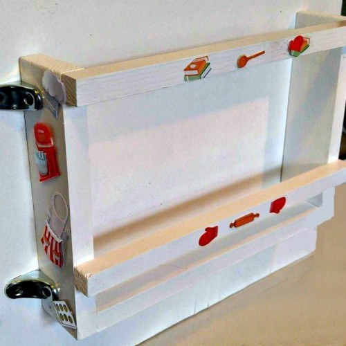 Diy Cutting Board Holder For A Cabinet Door The