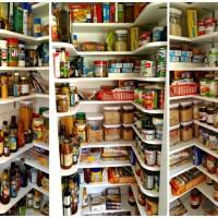 Finished closet pantry