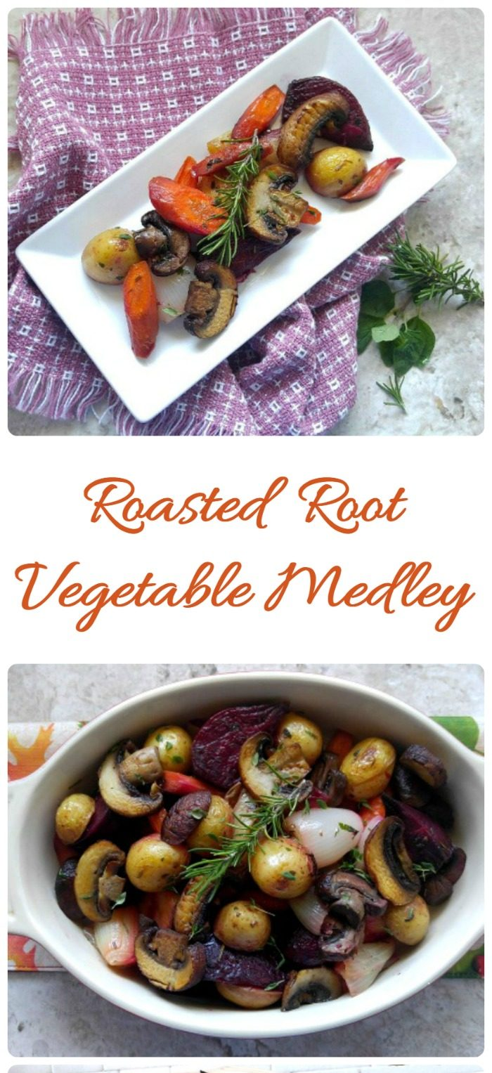 This Roasted root vegetable medley is a perfect fall side dish.