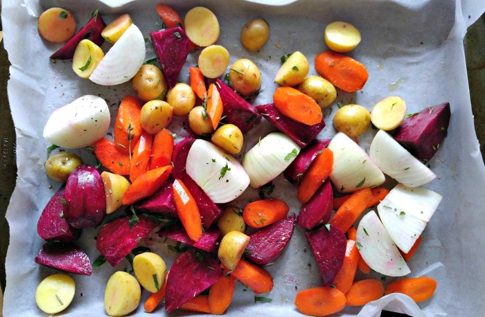 root vegetables make the base of this hearty fall side dish