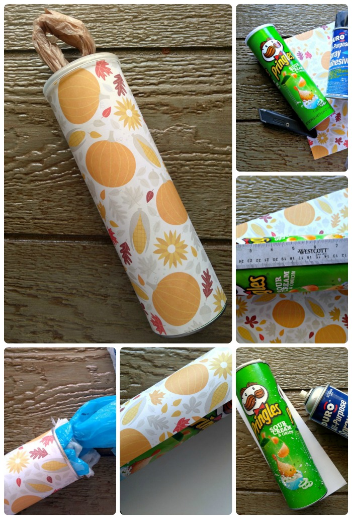 Grocery Bag Dispenser Collage