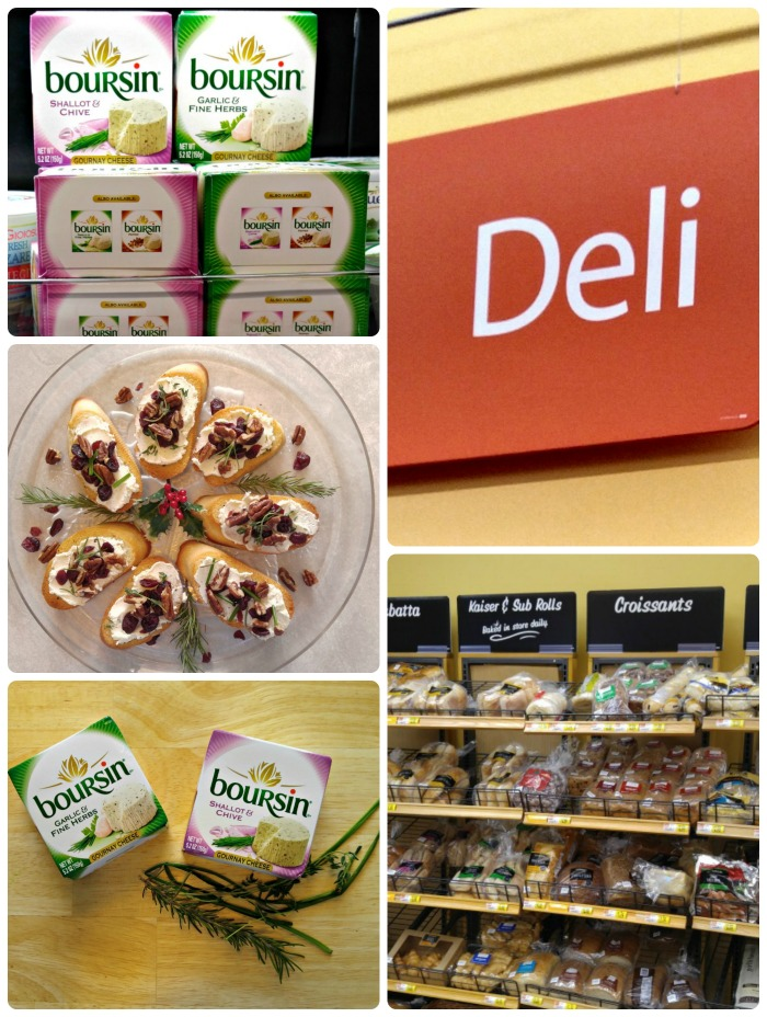 Boursin Cheese store collage