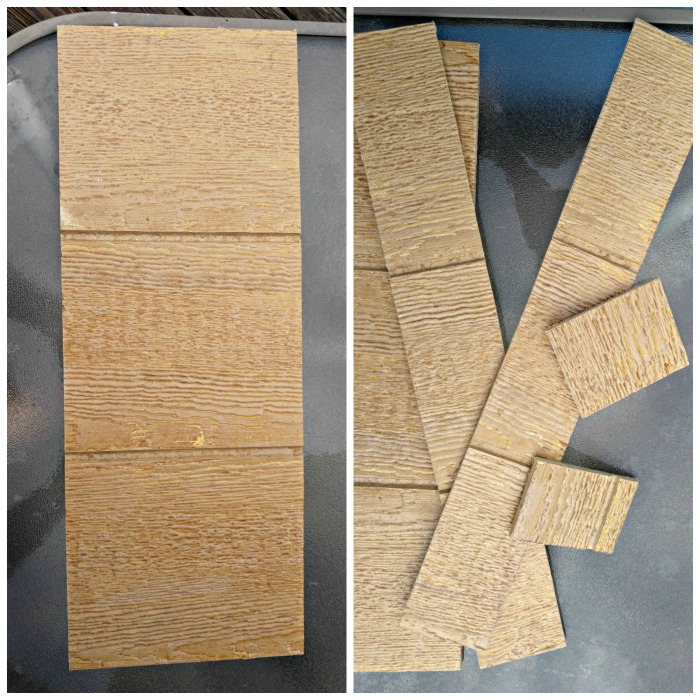 Measure and cut the reclaimed wood