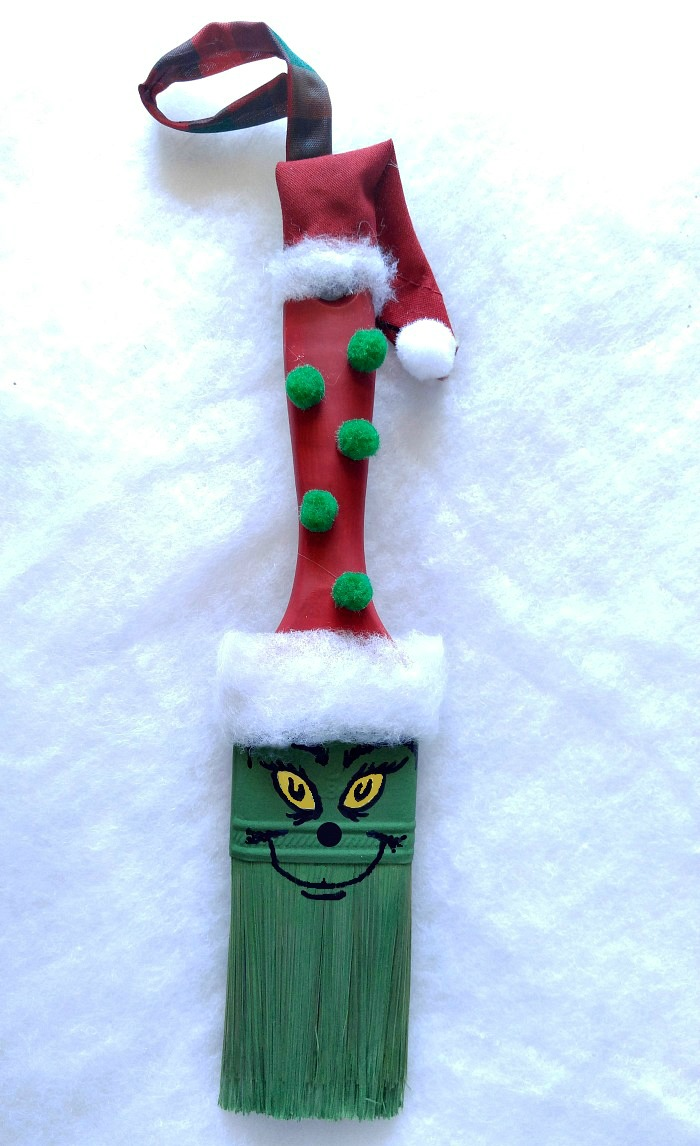 This adorable Grinch Paintbrush Ornament will be a family favorite for years to come. It is easy to make with my step by step tutorial.