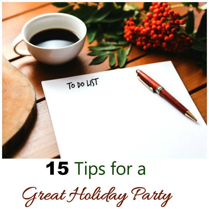 These 15 holiday party ideas will make sure that your gathering is stress free and much more fun. #ad #sharisberries