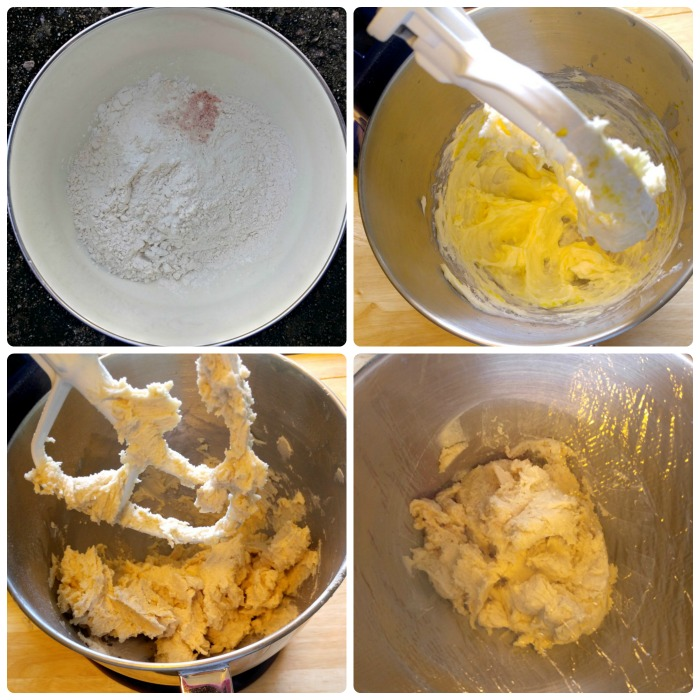 Make the batter for the lemon snowball cookies and then chill for 30 minutes.