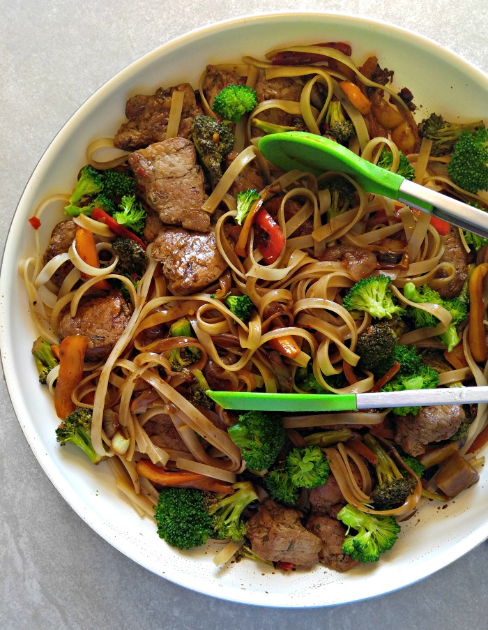 Add the noodles to the 30 minute pork stir fry
