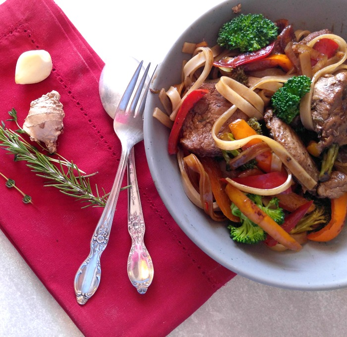 This 30 minute pork stir fry is full of flavor and so easy to make.