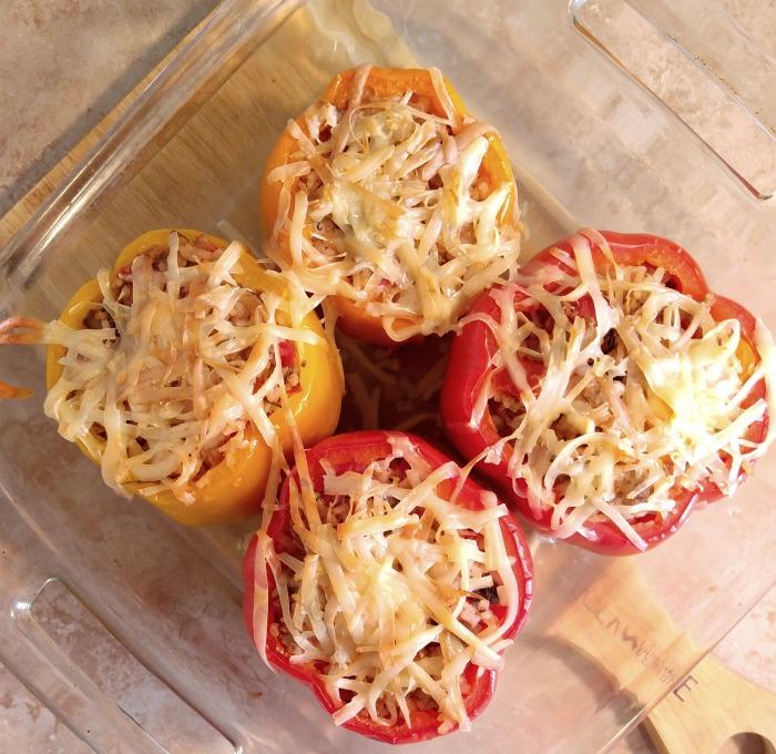 Ground Turkey Stuffed Peppers