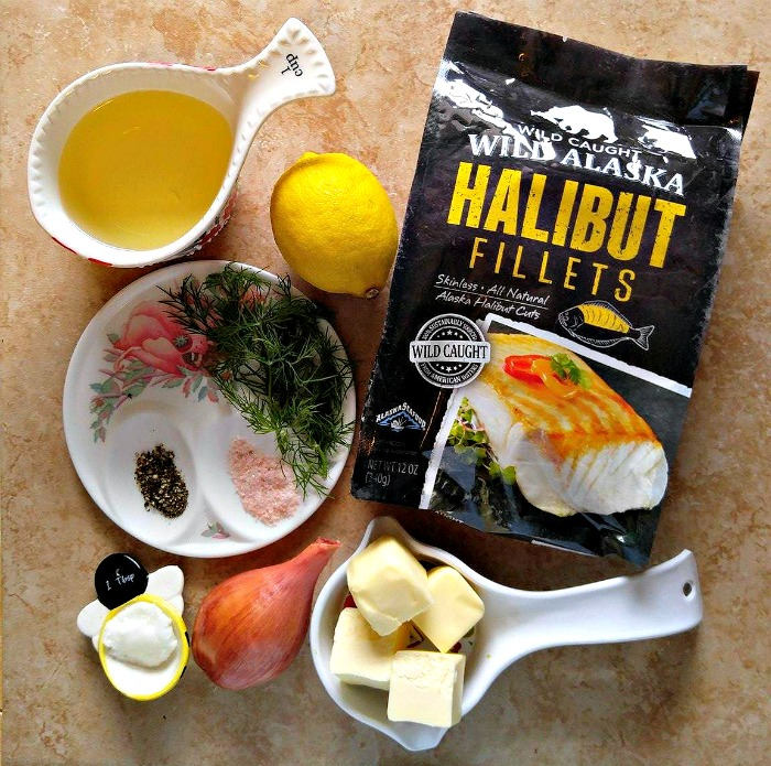 Ingredients for Pan seared halibut