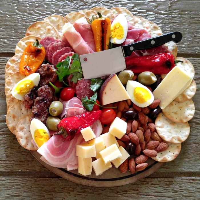 Antipasto Platter with specialty meats and cheeses