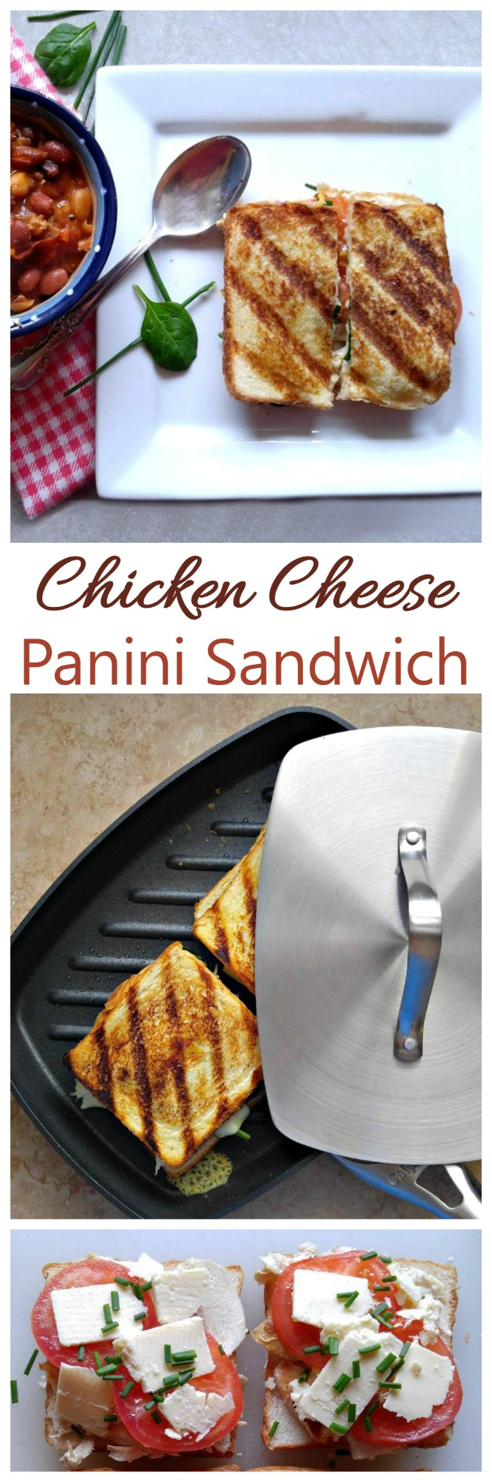 This chicken cheese spinach panini takes a chicken sandwich to a whole new level.  It is easy to make and tastes delicious.