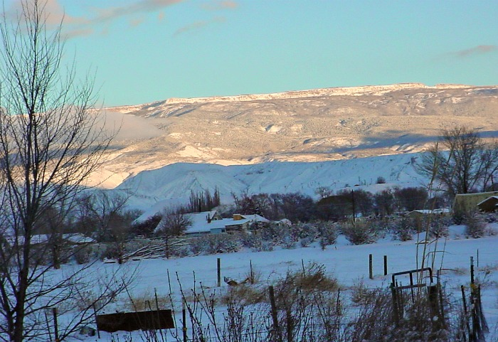 Winter scene from Delta Colorado - Western slope of the Rockies.