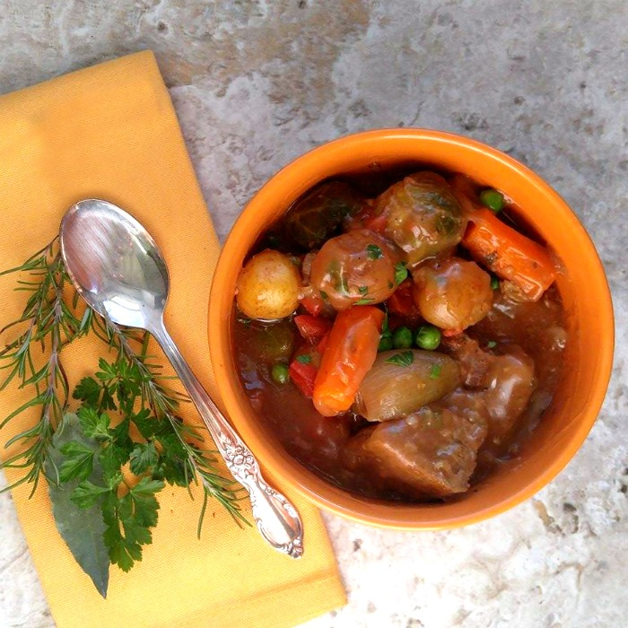 This fork tender old fashioned beef stew is made just the way Momma made it! Rich and savory with big chunks of meat and vegetables are the ultimate comfort food.