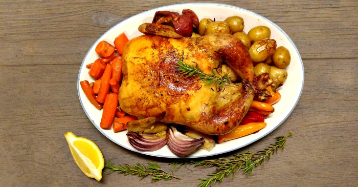 One Pot Roasted Chicken And Vegetables Easy One Pan Roast Chicken
