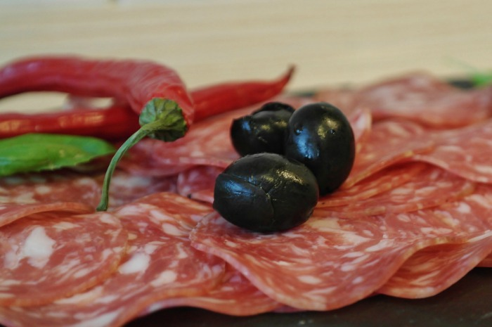 Have a variety of thinly sliced meats for an antipasto platter