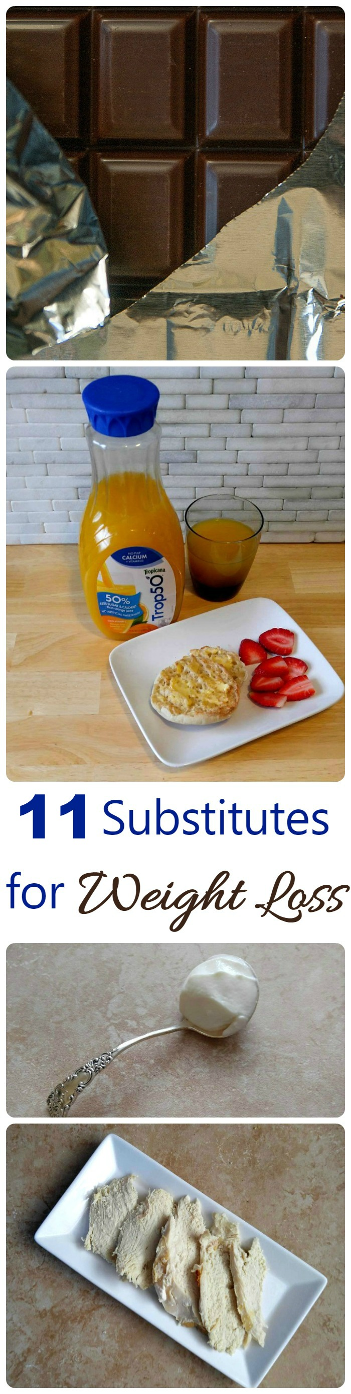 There are lots of small changes that you can make to add up to big losses for weight loss. These 11 substitutes will help lose weight and gain better health. #Trop50FreshStart #ad