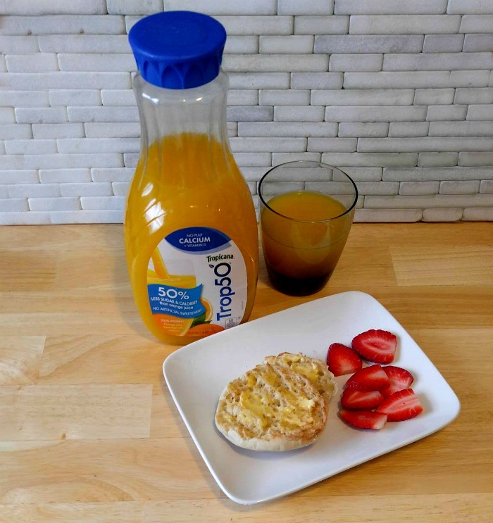 Trop50 and English Muffins with Fruit makes a light breakfast