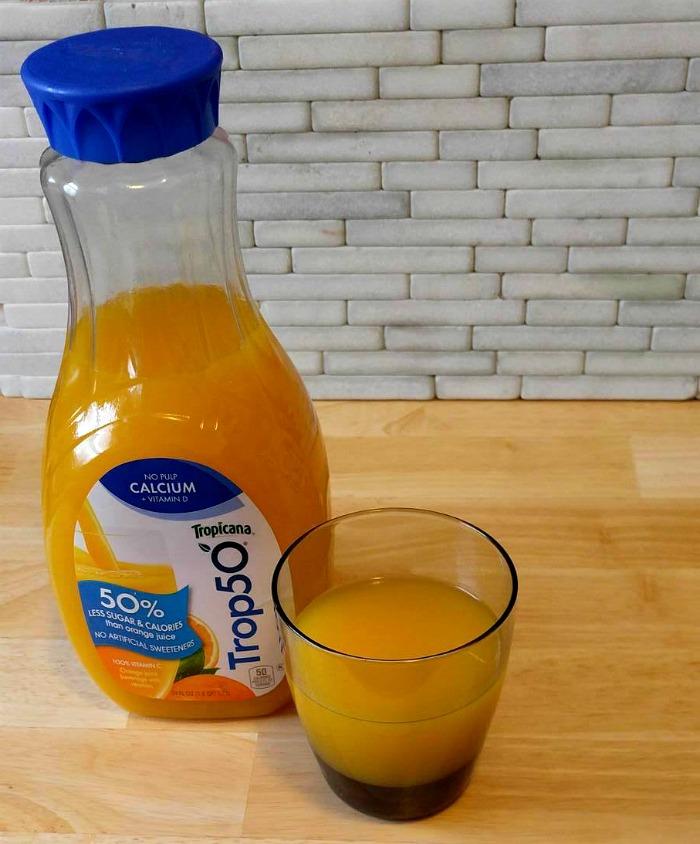 Trop50 orange drink has half the sugar of orange juice