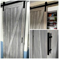 Shiplap barn door