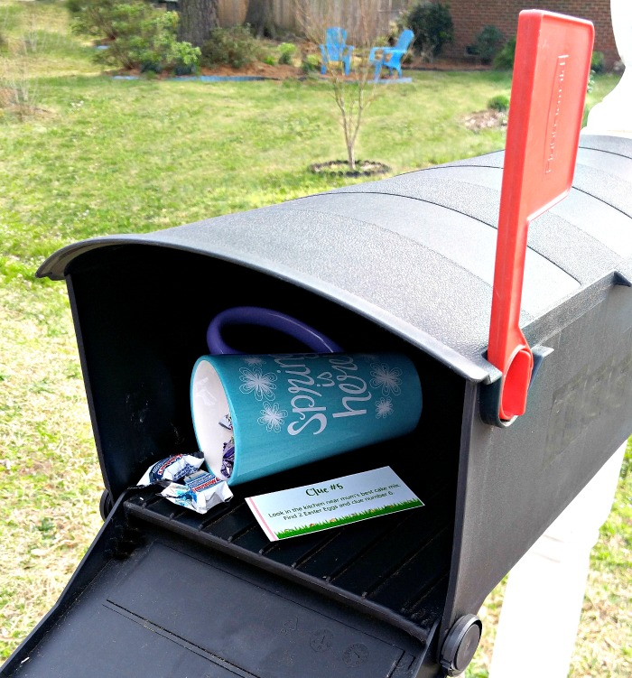 The mail box is a great place to hide something larger.
