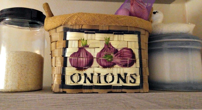 Store onions in a dry place
