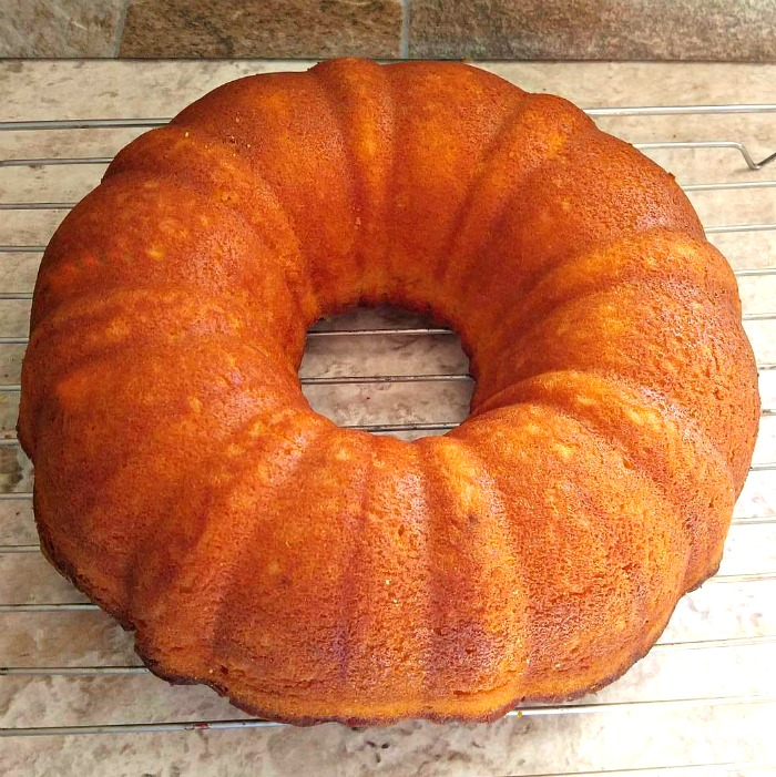 Fresh baked orange bundt cake