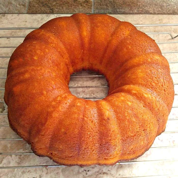 Fresh baked orange bundt cake