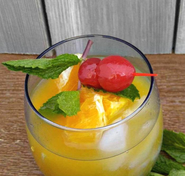 Add some fresh oranges to your Orange Cherry Mocktail