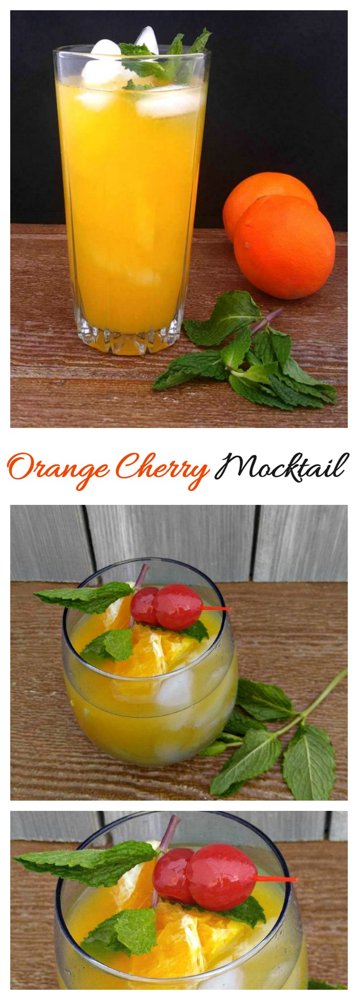 This Orange Cherry Mocktail is the prefect choice for those times when you want a party feel but don't want the alcohol.