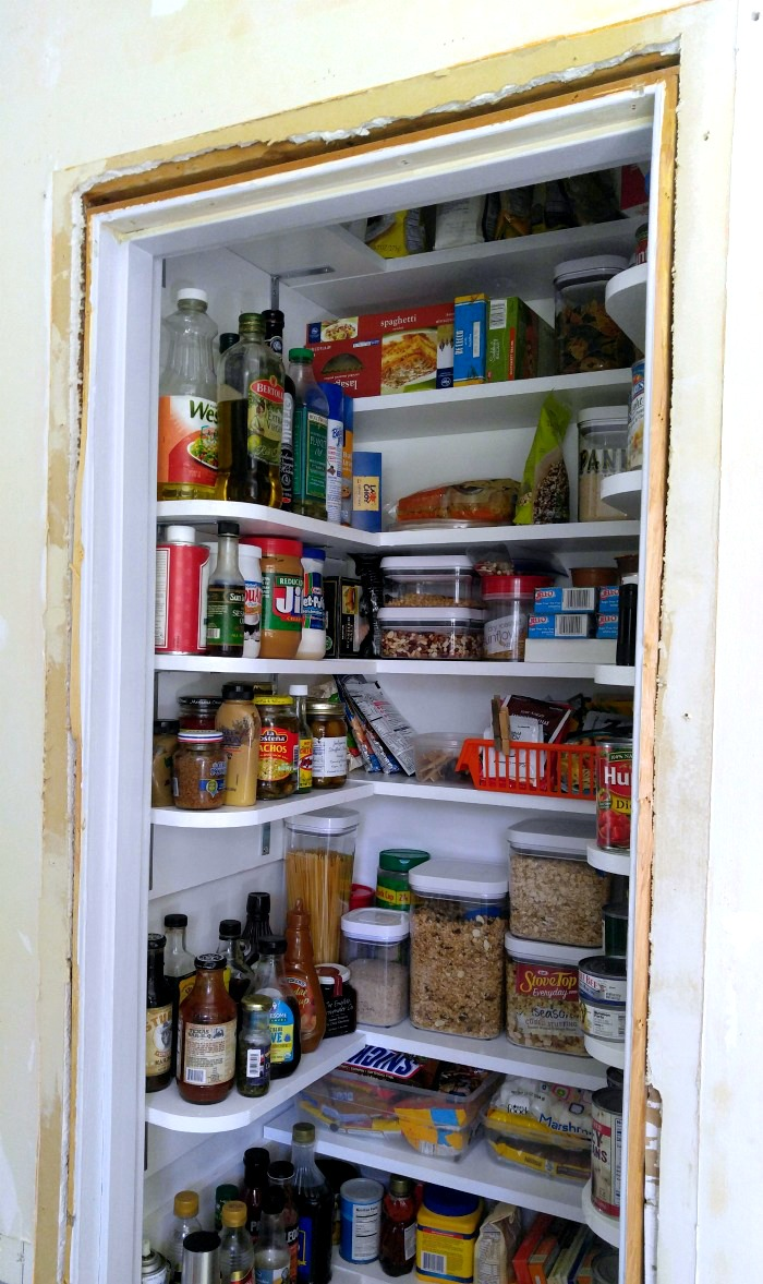 Open pantry with no door