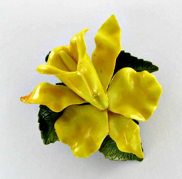 Flower pins great gifts for garden lovers the gardening cook yellow and green enamel lily flower pin mightylinksfo