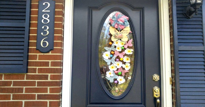 Easter Grapevine Door Swag - Butterflies Bunnies and Eggs! - The Gardening Cook & Easter Grapevine Door Swag - Butterflies Bunnies and Eggs! - The ...