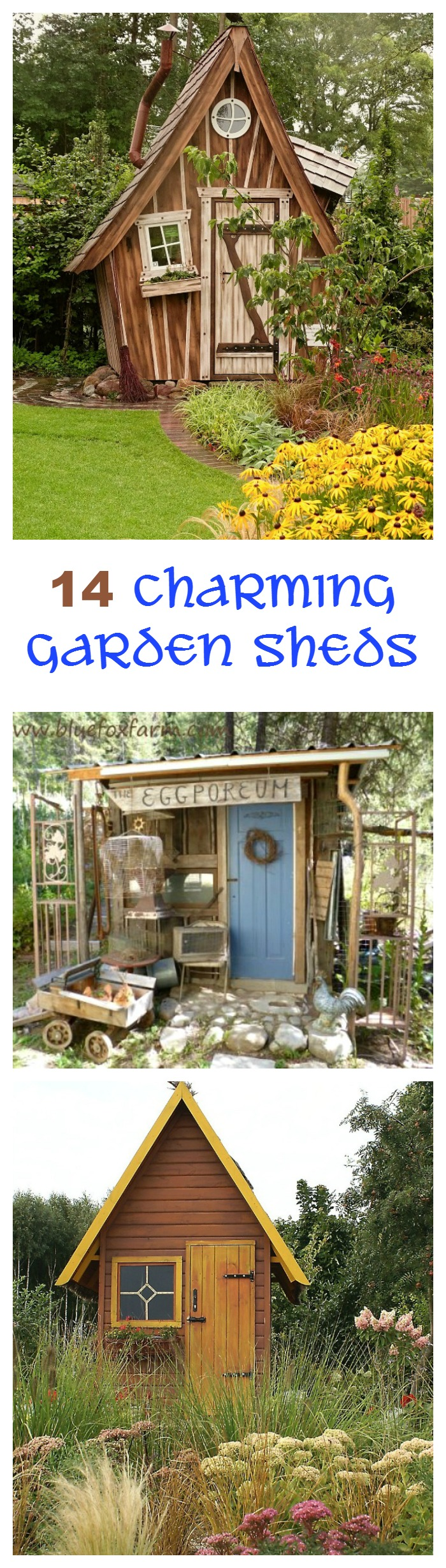 Garden Sheds Pictures garden sheds add a whimsical touch to a back yard