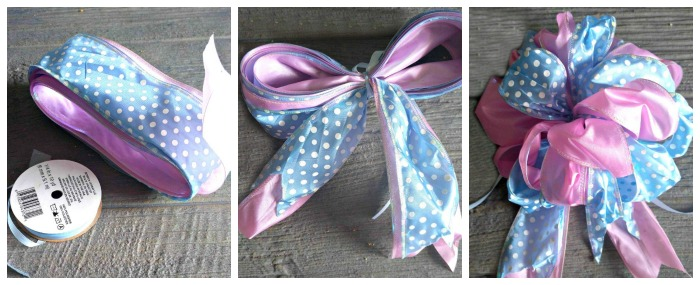 Making the floral bow