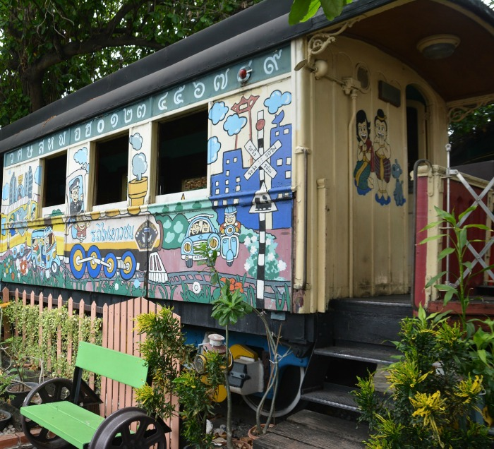 Got an old railway cart handy? Turn it into a Garden Shed!