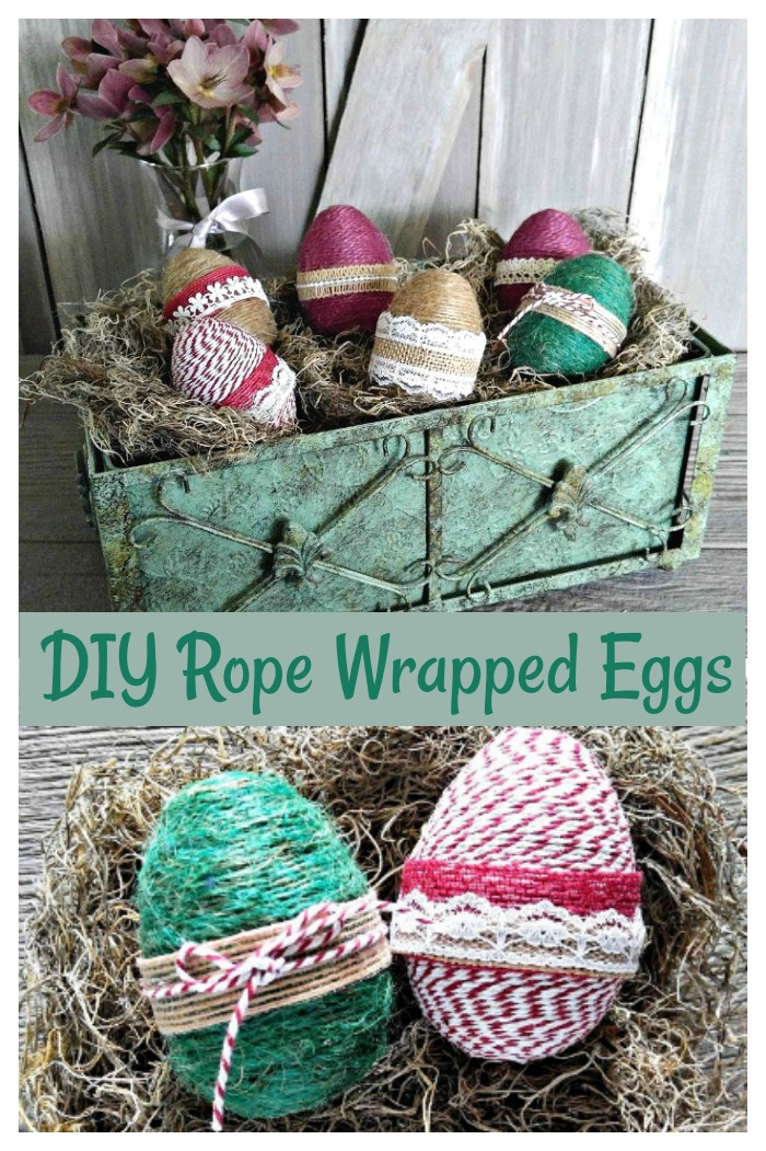 Rope Wrapped Easter eggs