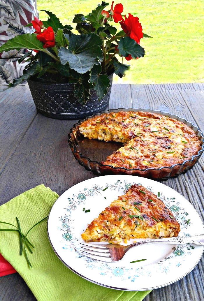 This crustless chicken quiche is perfect for Mother's Day Brunch