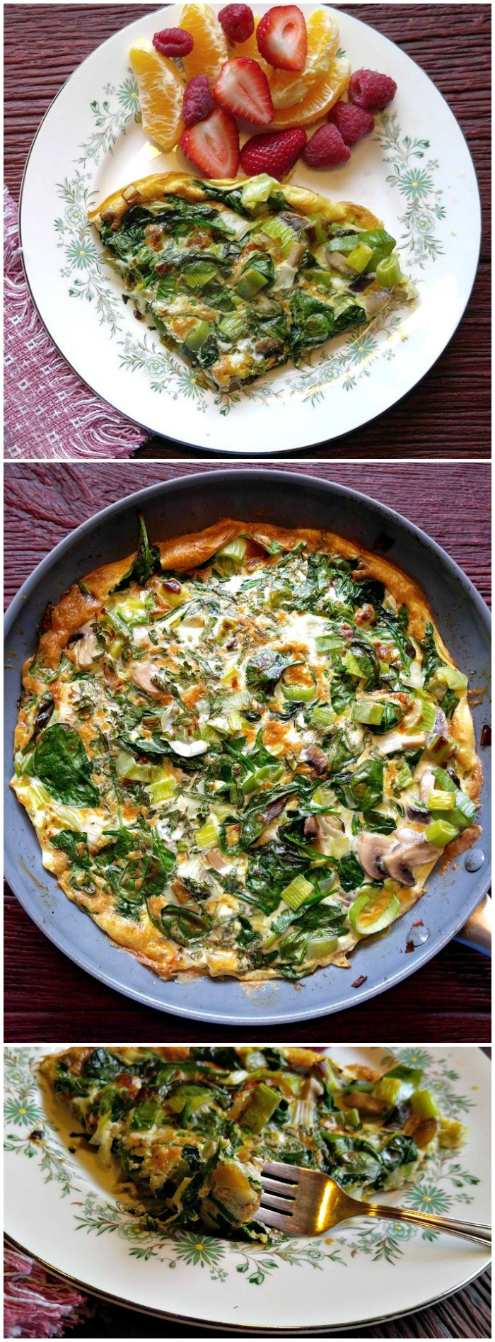 Delicious spinach frittata is a perfect low carb breakfast