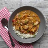Chicken Curry cooked in a crockpot