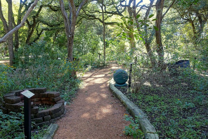 The Compost Demonstration Garden in Ziker Botanical Gardens of Austin, Texas.
