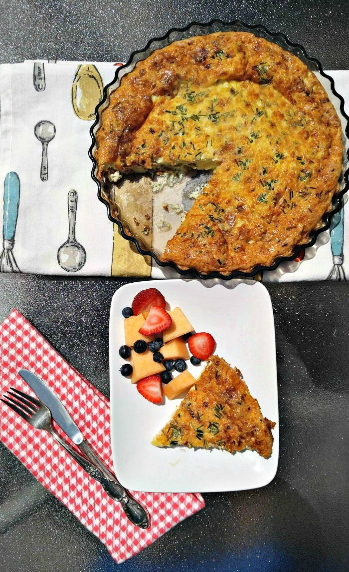 This crustless Quiche Lorraine has a lovely delicate flavor and tastes amazing.