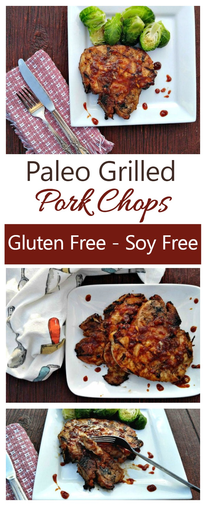 These paleo grilled pork chops are gluten and soy free and just full of flavor and goodness.