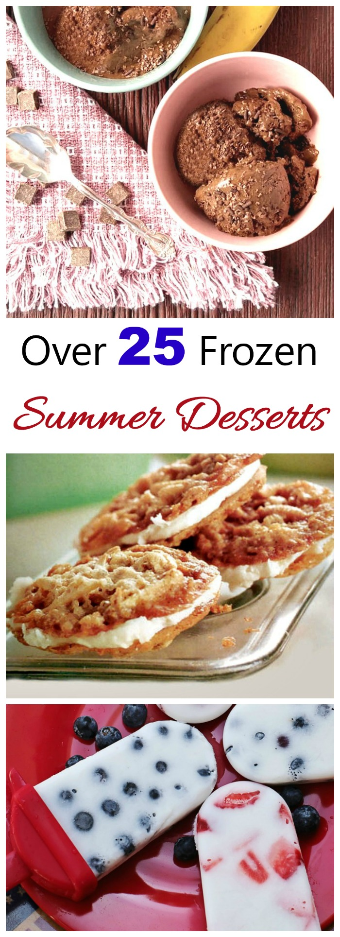 These cold summer desserts are the perfect sweet treat ending to a meal when the temps are high.