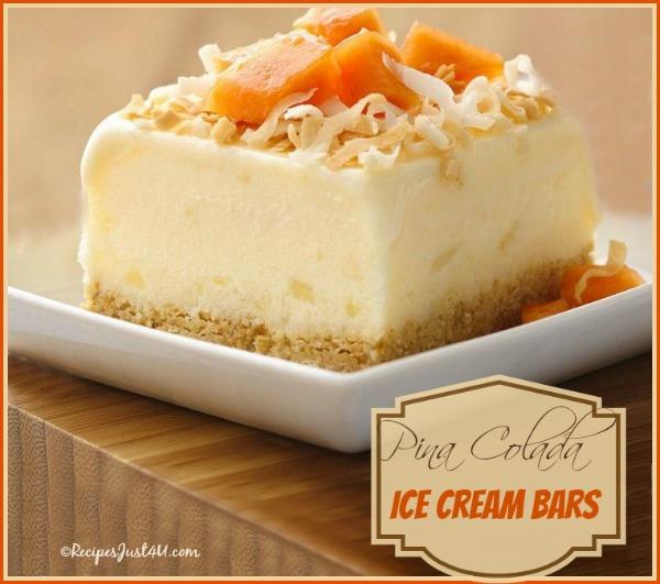 PIna colada ice cream dessert