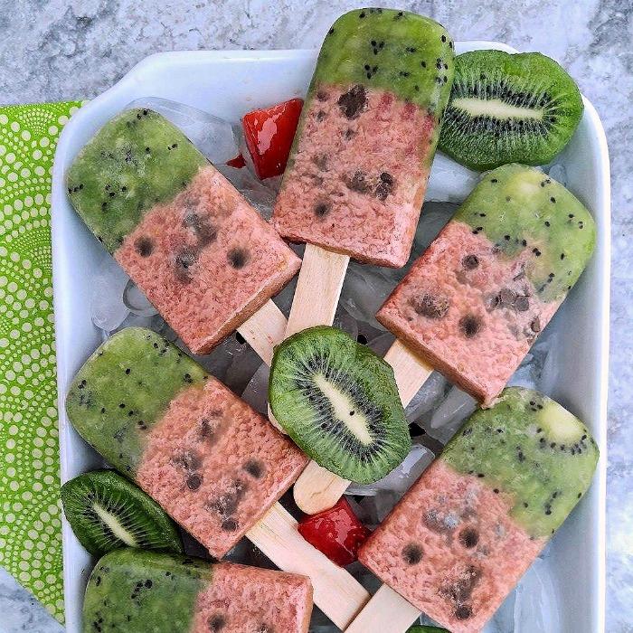 watermelon kiwi popsicles